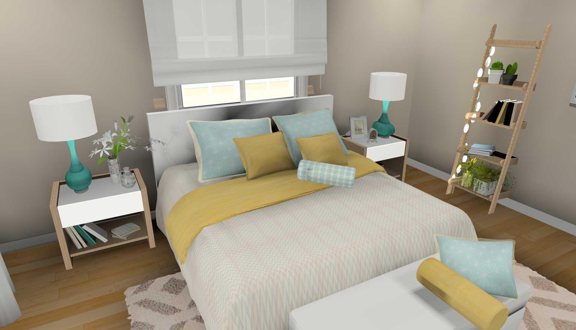 decoracion de interiores las tablas cama