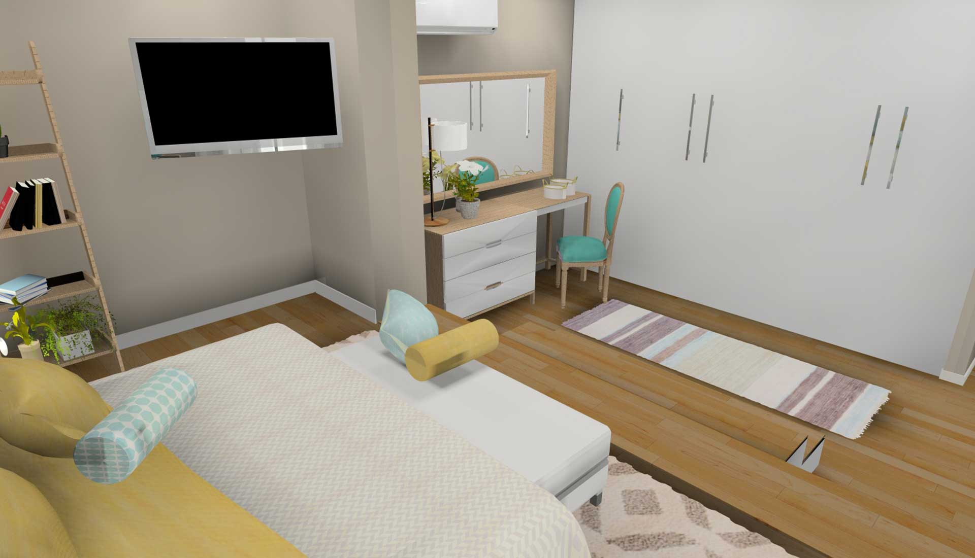 Decoracion de Interiores las tablas habitacion