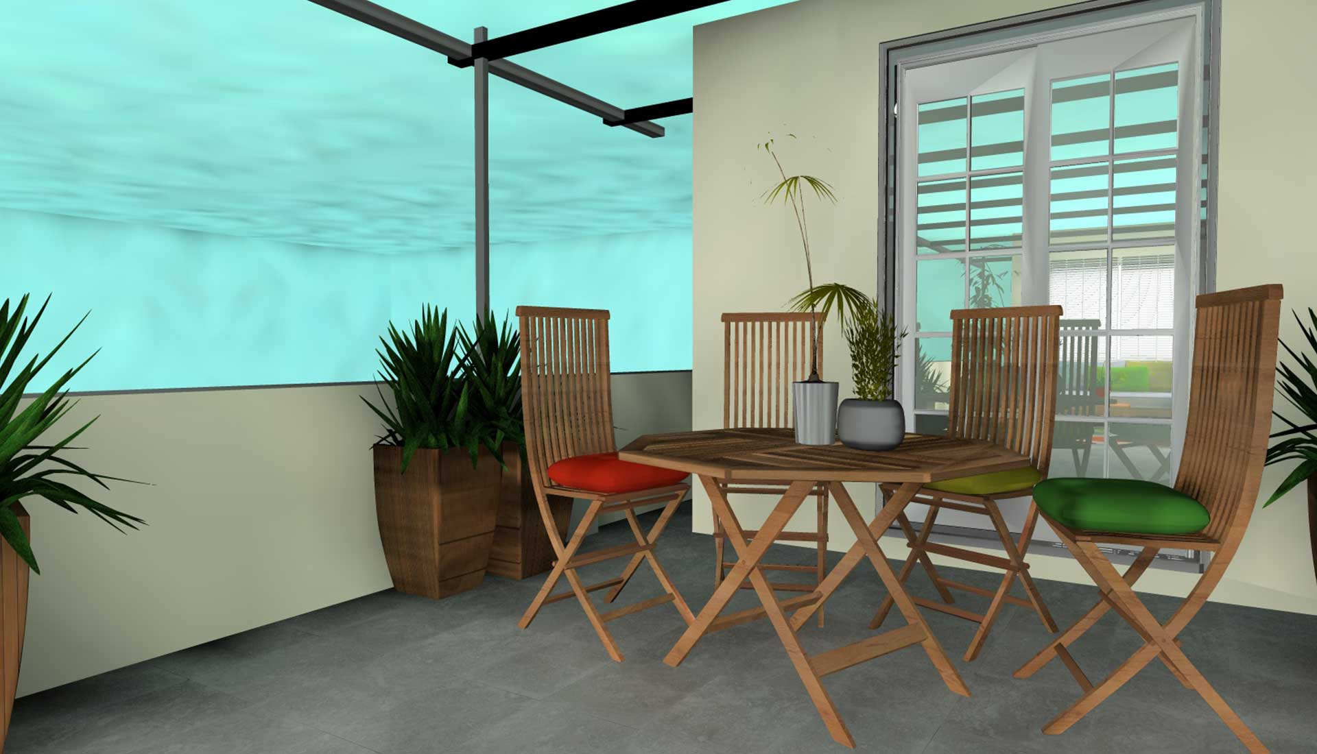 Decoracion de Interiores las tablas jardin