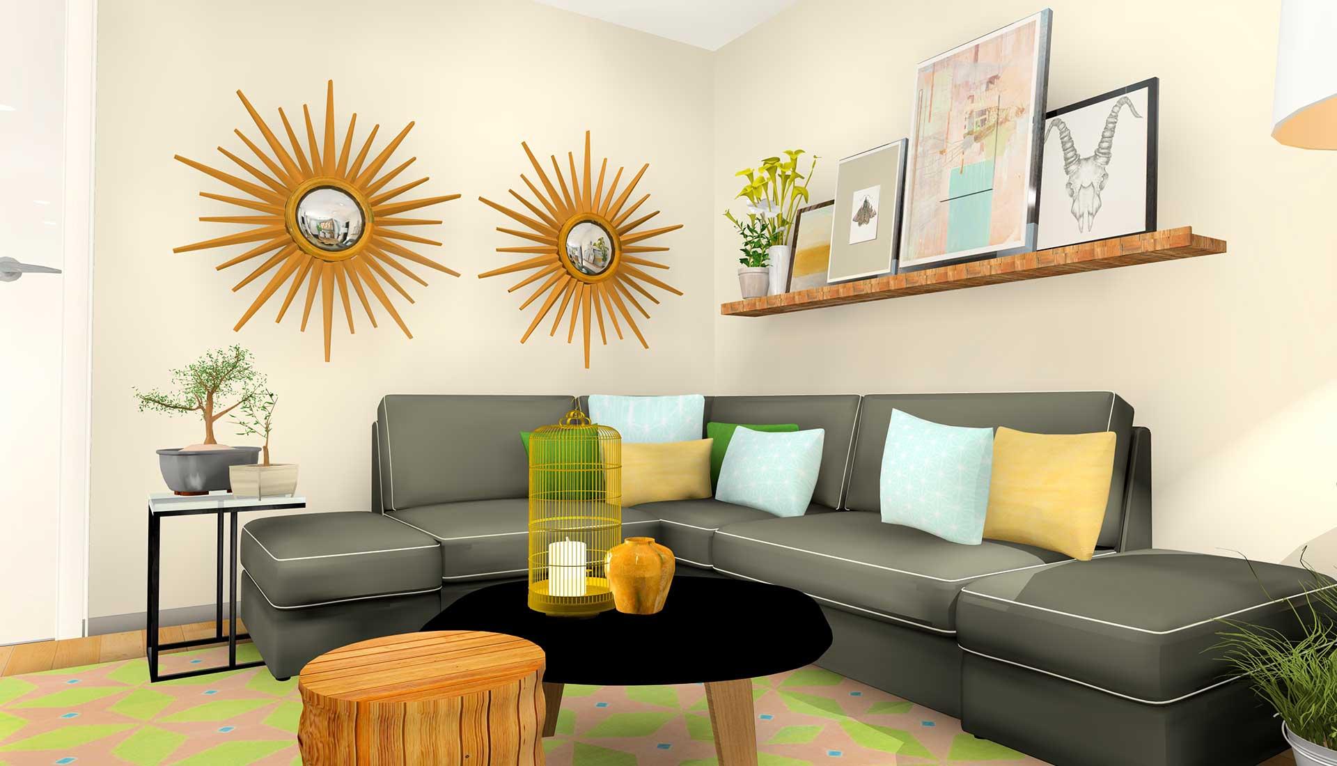 Decoracion de Interiores las tablas sofa