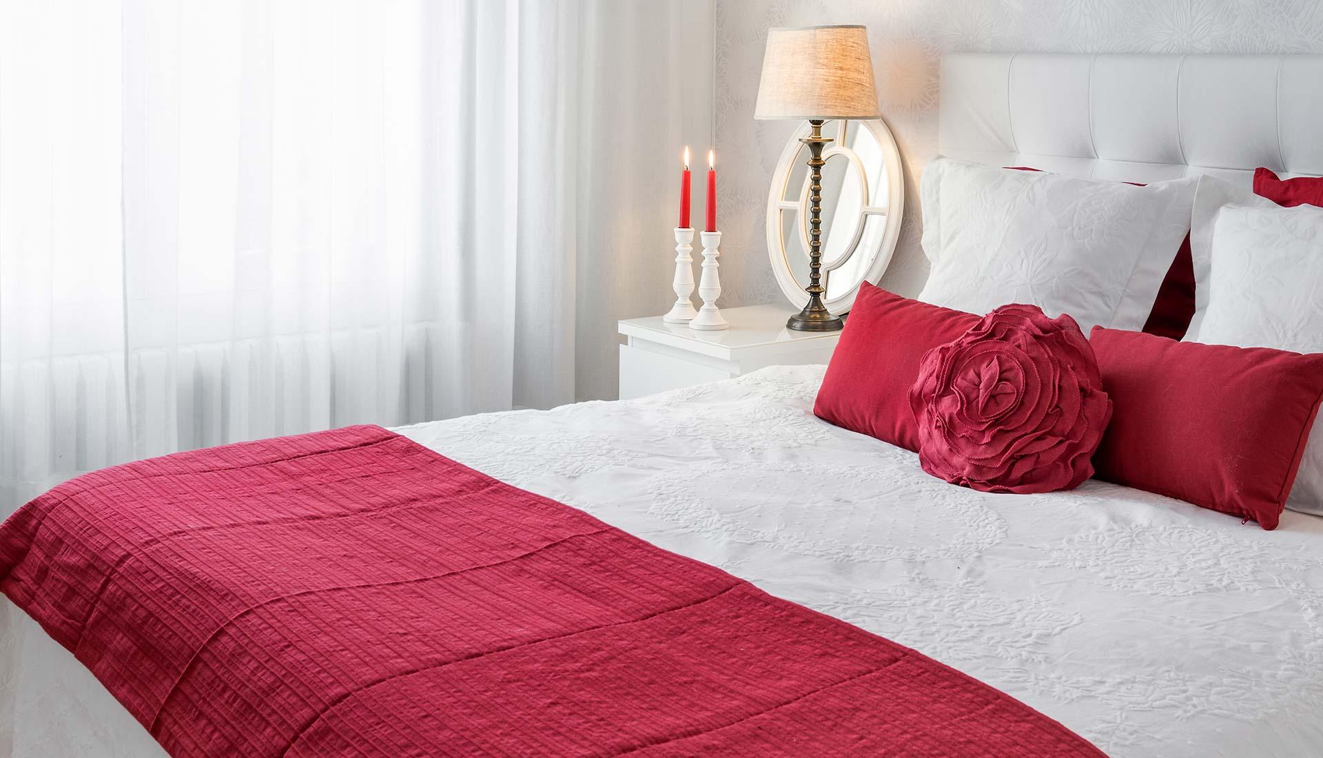 decoración interiores cama