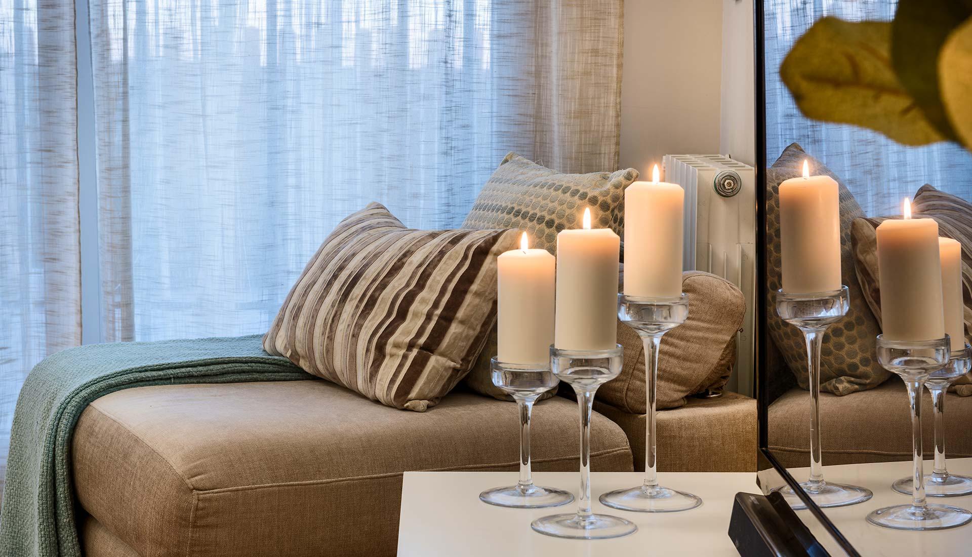 decoración de interiores velas