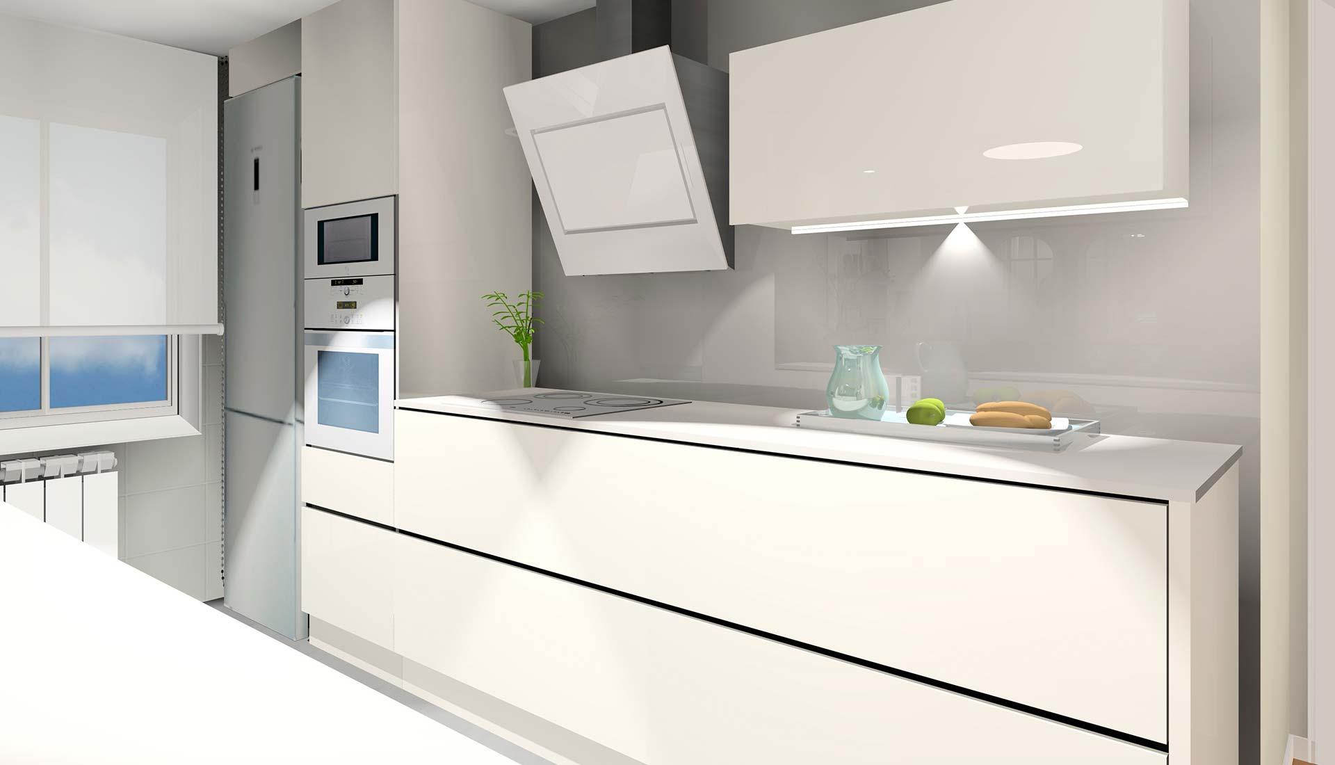 decoración interiores 3d cocina