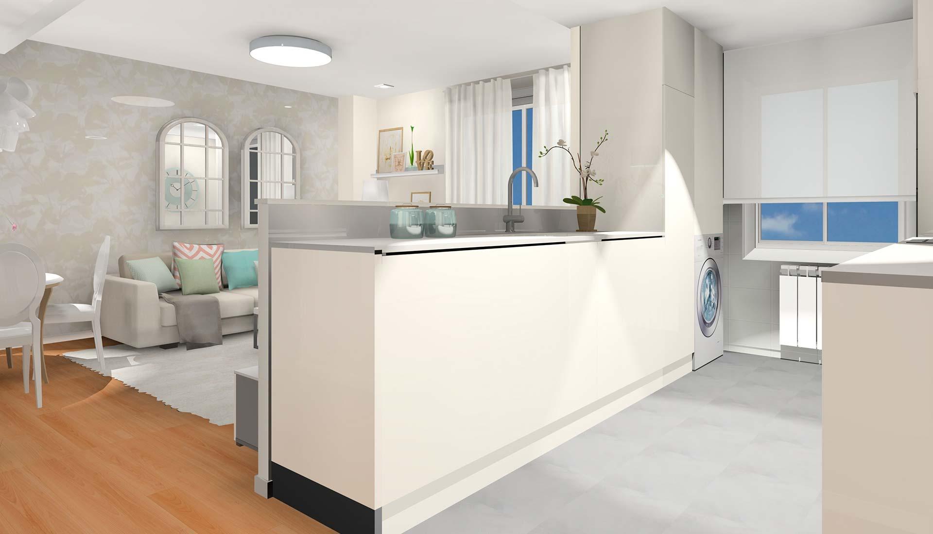 decoración interiores 3d mediana