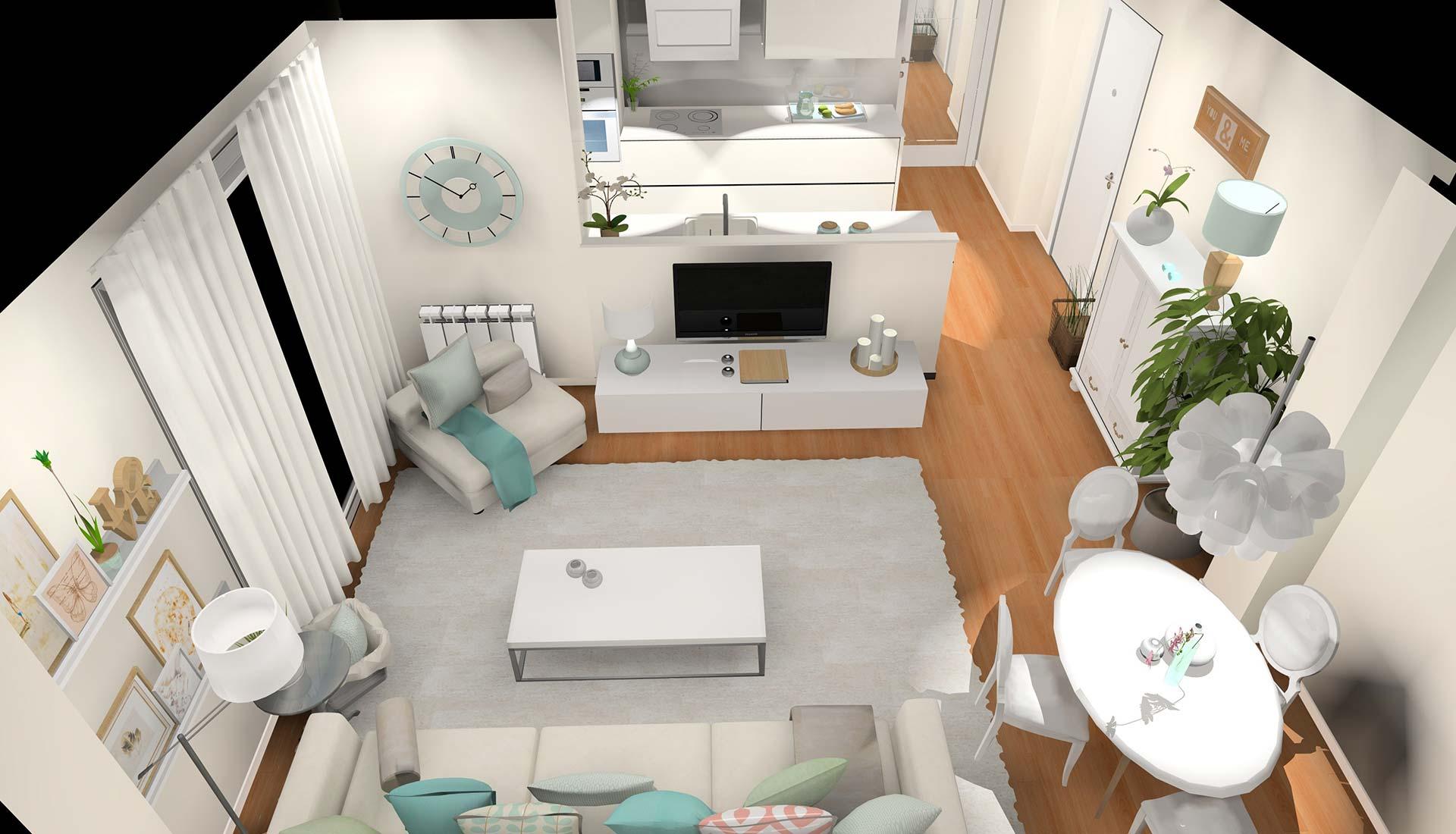 decoración interiores 3d 3d plano aereo
