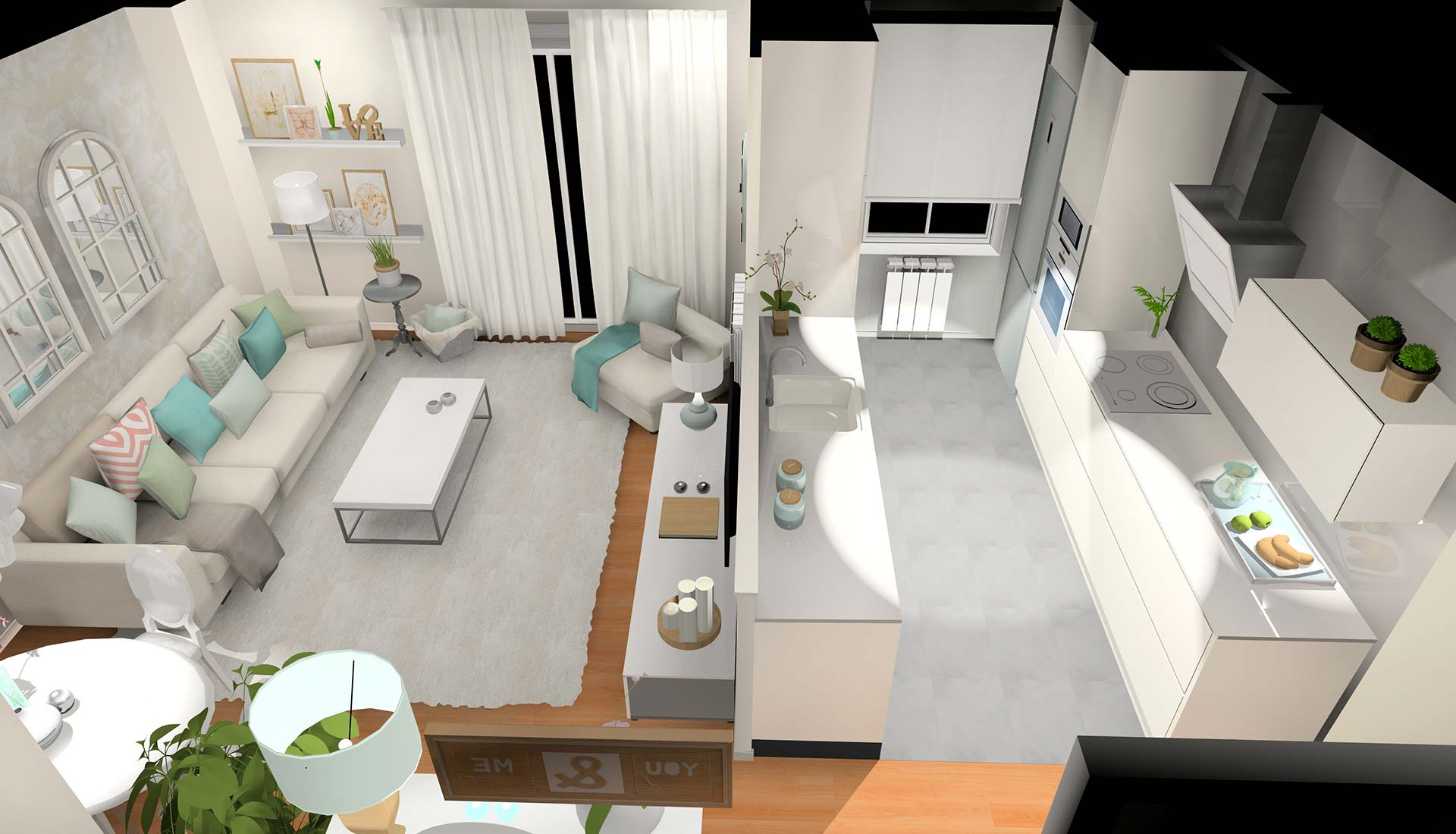 decoración interiores 3d
